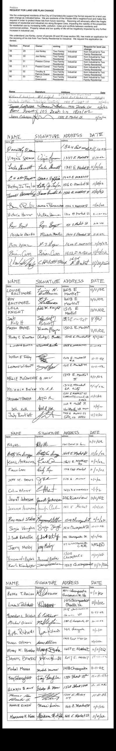 2002 Land Use Plan petition