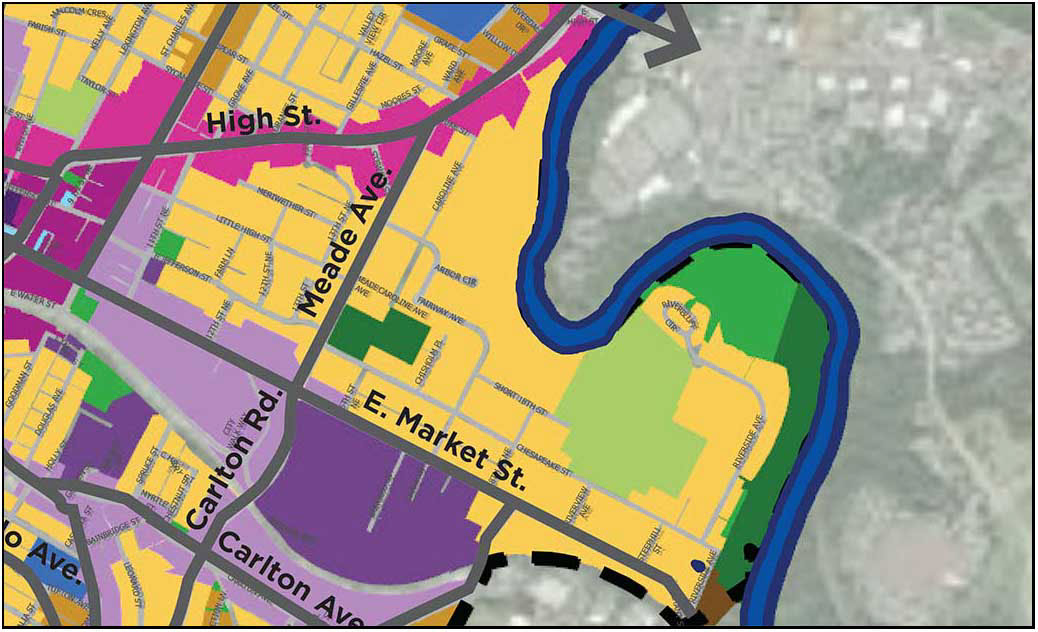 detail from draft land use map